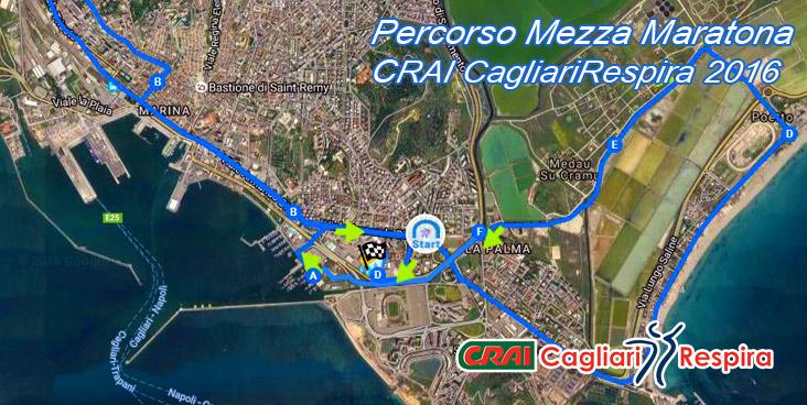 Percorso della mezza maratona di Cagliari