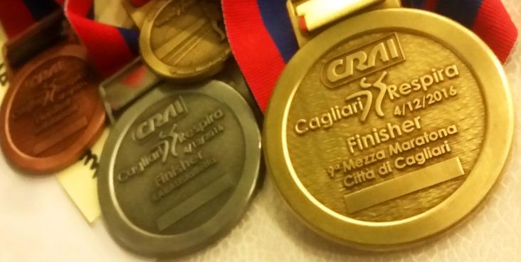 Le medaglie dell'edizione 2016