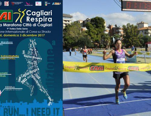 Aperte le iscrizioni alla 10a CRAI Mezza Maratona CagliariRespira 2017