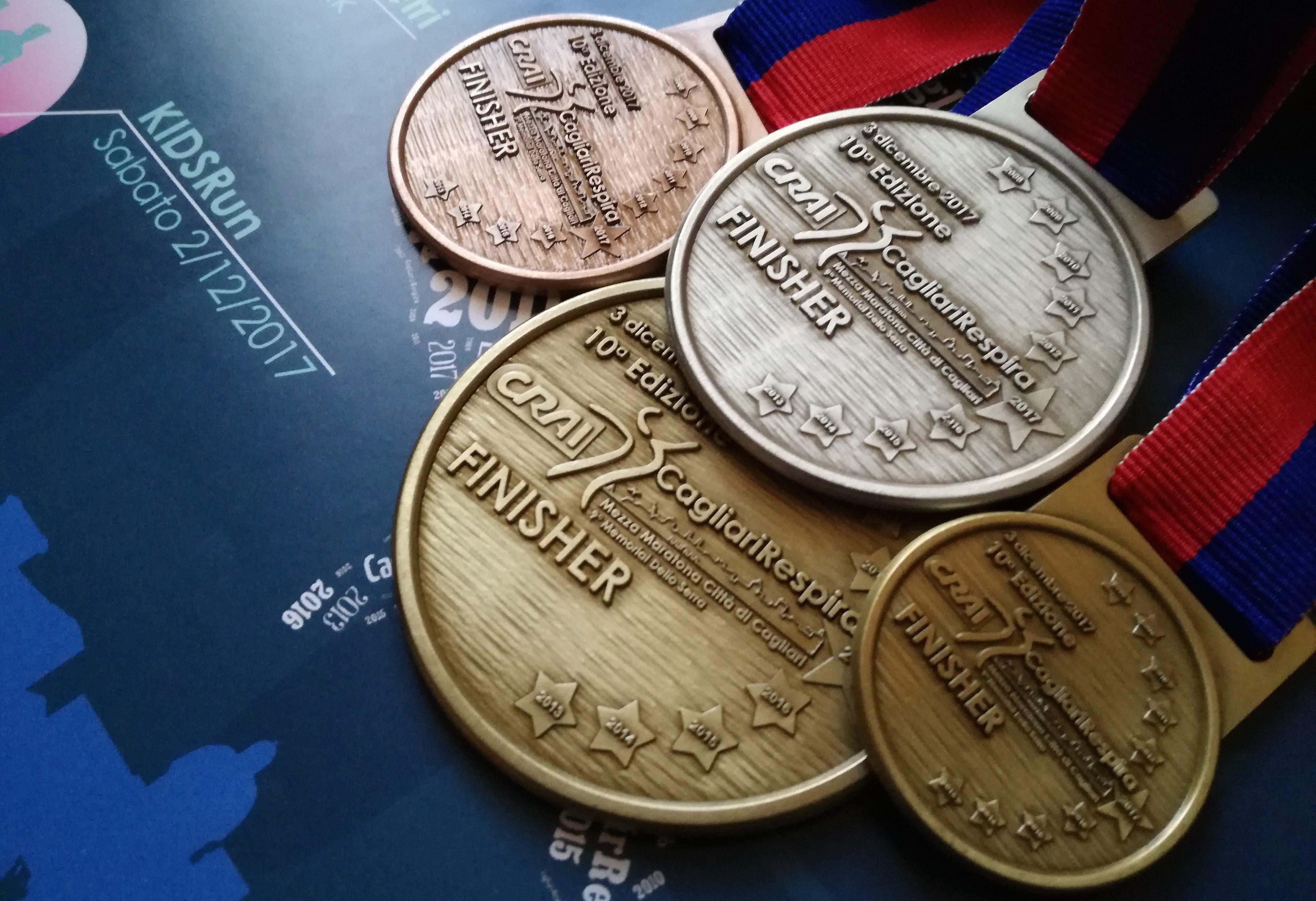 Le medaglie della CRAI CagliariRespira 2017