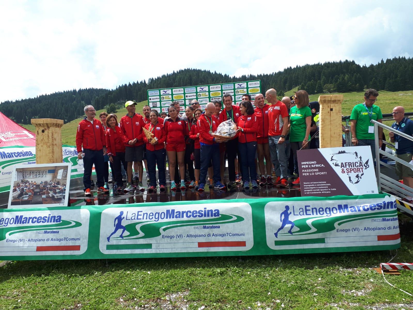 C'è il gemellaggio fra Cagliari Marathon Club e LaEnego Marcesina