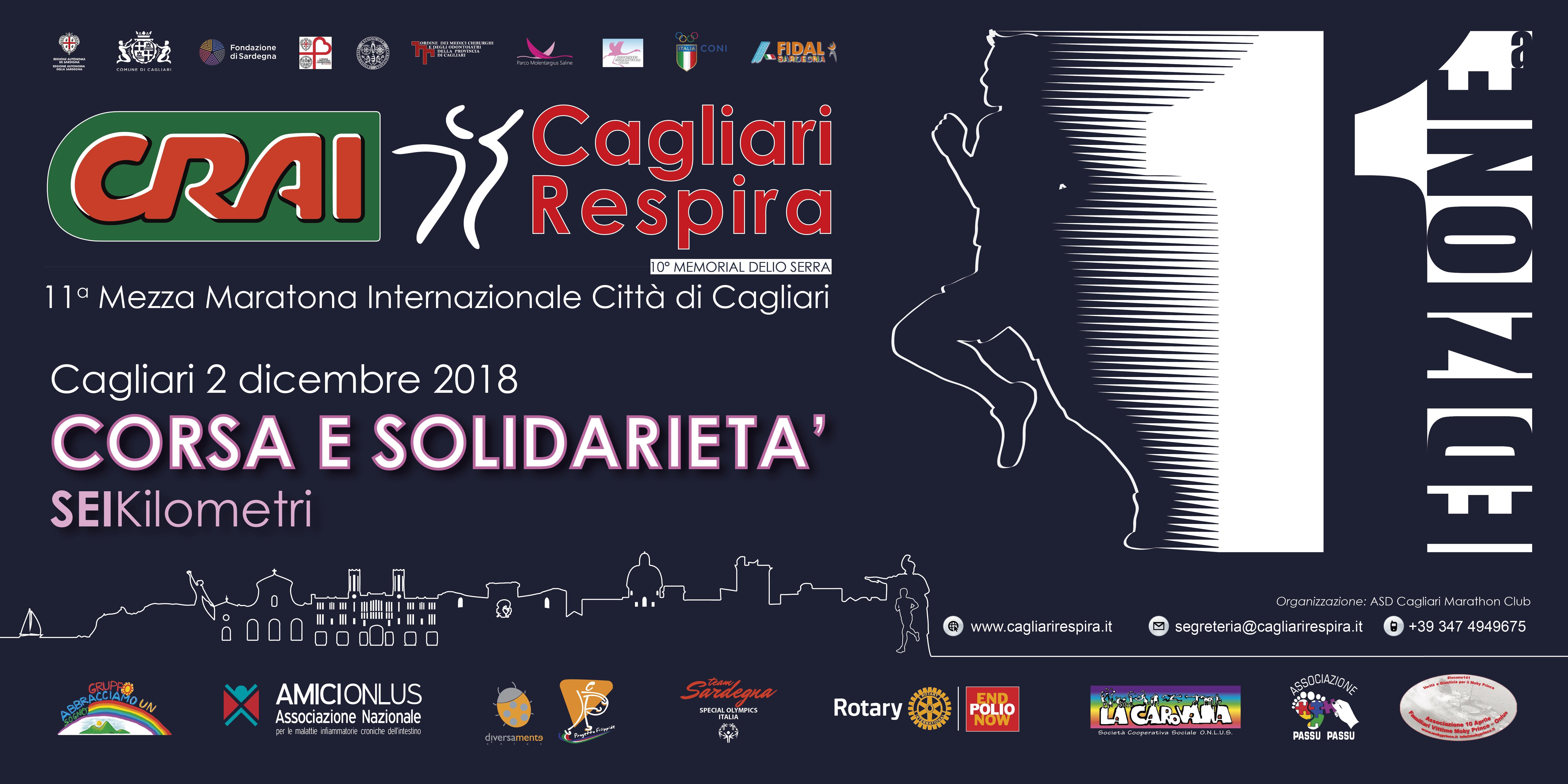 Torna l'iniziativa Corsa e Solidarietà per la CRAI Cagliari Respira