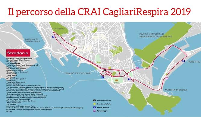 Il percorso della CRAI CagliariRespira 2019
