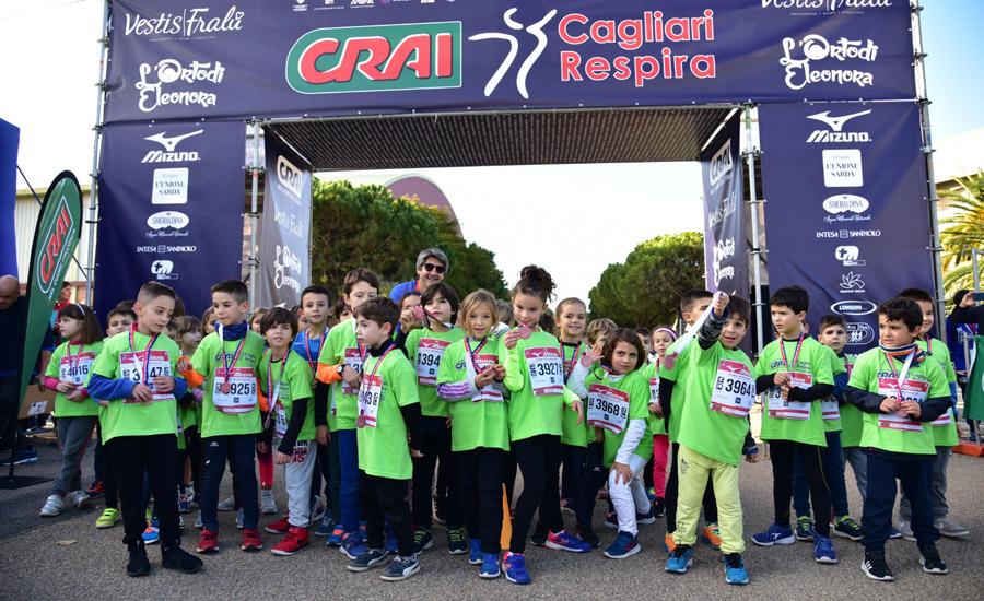 CRAI CagliariRespira 2019, svolte le Kids Run. Pinna, Sustic e Boudalia interviste